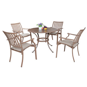 Island Breeze Espresso Outdoor Dining Sets, 5 Piece