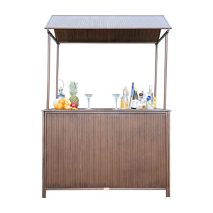 Tiki Bar Antique Outdoor Bar with Canopy