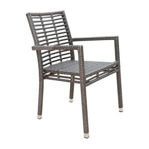 Intech Grey Outdoor Stackable Arm Chair