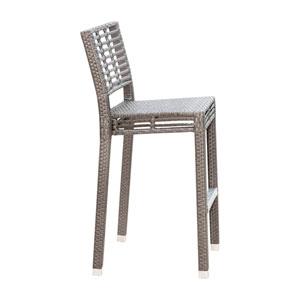 Intech Grey Stackable Outdoor Barstool