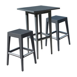 Onyx Black Outdoor Pub Sets, 2 Piece