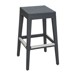 Onyx Black Backless Outdoor Barstool