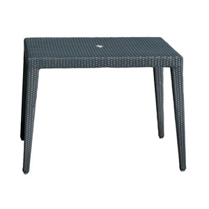 Onyx Black Square Outdoor Tables with Glass