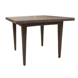 Oasis Java Brown Outdoor Square Table with Glass