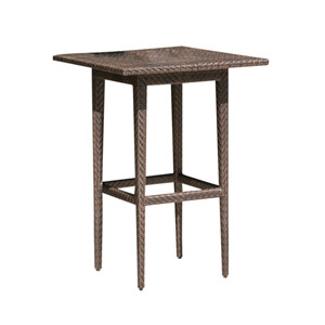 Oasis Java Brown Outdoor Pub Table with Glass