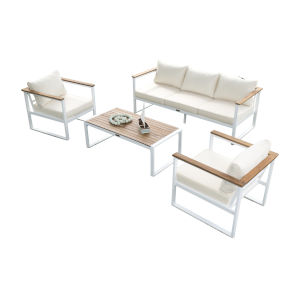 Dana Point Canvas Taupe Four-Piece Outdoor Seating Set