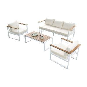 Dana Point Canvas Black Four-Piece Outdoor Seating Set