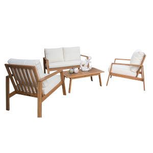 Belize Canvas Black Four-Piece Outdoor Seating Set