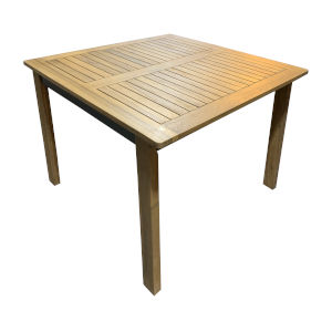 Boca Grande Natural Outdoor Square Dining Table