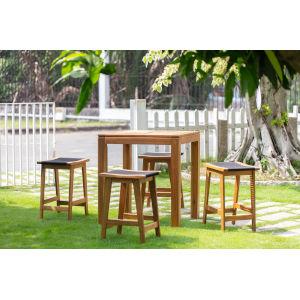 Laguna Natural Five-Piece Outdoor Backless Pub Dining Set
