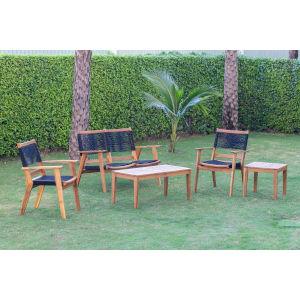 Laguna Natural Five-Piece Outdoor Seating Set