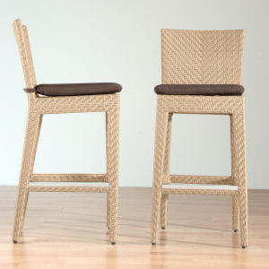 Austin Canvas Tuscan Outdoor Barstool with Cushion