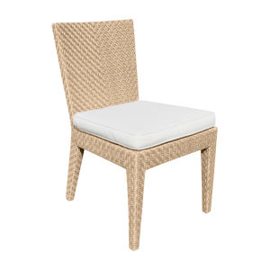 Austin Linen Champagne Outdoor Dining Side Chair, Set of Two