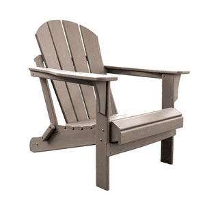 Adirondacks Taupe Outdoor Adirondack Chair