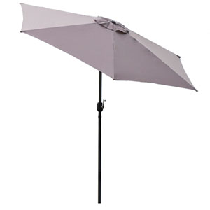 Black 9-Feet Outdoor Patio Umbrella With Crank