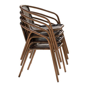 Espresso Cafe Stackable Armchair, Set of 4