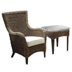 Sanibel Canvas Capri Two-Piece Lounge Chair Set with Cushion