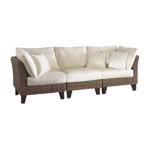 Sanibel Rave Lemon Three-Piece Sofa Set with Cushion