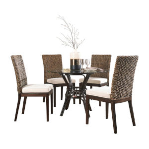 Sanibel York Jute Dining Set with Cushion