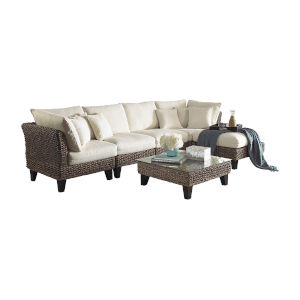 Sanibel Patriot Cherry Six-Piece Sectional Set with Cushion