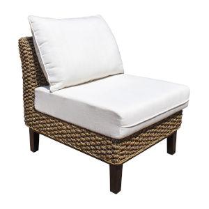 Sanibel York Jute Armless Chair with Cushion