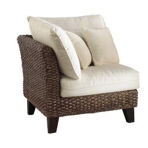 Sanibel York Jute Corner Chair with Cushion