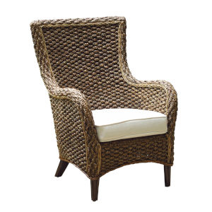 Sanibel Canvas Taupe Lounge Chair with Cushion