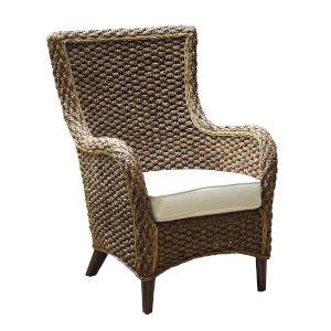 Sanibel Canvas Black Lounge Chair with Cushion