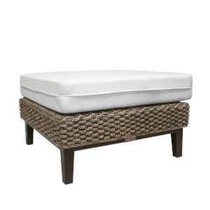 Sanibel York Peacock Ottoman with Cushion