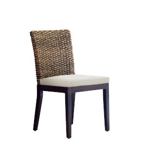 Sanibel Canvas Black Indoor Dining Chair with Cushion