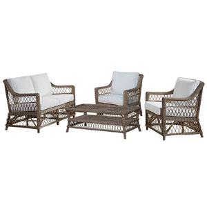 Seaside Boca Grande Four-Piece Living Set with Cushion