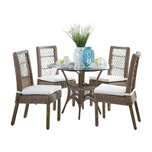 Seaside York Peacock Dining Set with Cushion