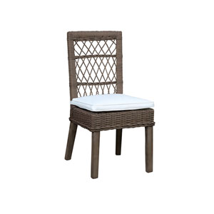 Seaside York Jute Side Chair with Cushion