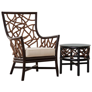 Trinidad Patriot Ivy Occasional Chair with End Table