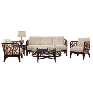 Trinidad Island Hoppin Five-Piece Living Set with Cushion