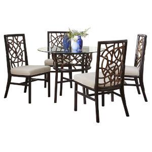 Trinidad Ezra Seaglass Six-Piece Indoor Dining Set with Cushion