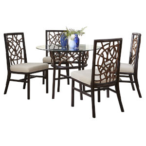 Trinidad Linen Champagne Six-Piece Indoor Dining Set with Cushion