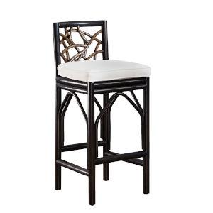 Trinidad Ezra Seaglass Indoor Barstool with Cushion