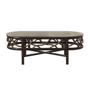 Trinidad Natural Indoor Coffee Table with Glass