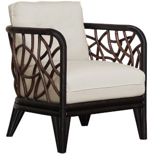 Trinidad Patriot Cherry Lounge Chair with Cushion