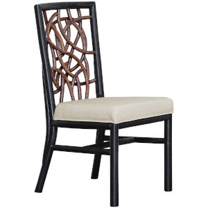 Trinidad Patriot Cherry Side Chair with Cushion