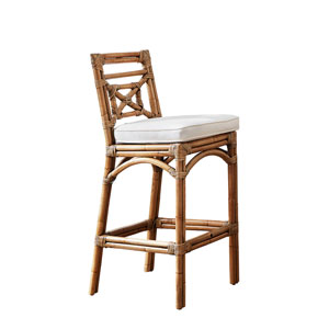 Plantation Bay York Jute Barstool with Cushion