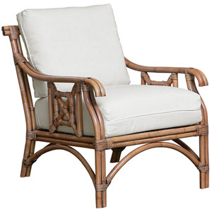 Plantation Bay York Jute Lounge Chair with Cushion