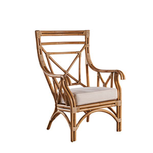 Plantation Bay York Jute Occasional Chair with Cushion
