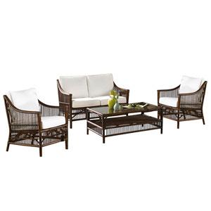 Bora Bora Patriot Ivy Four-Piece Living Set with Cushion