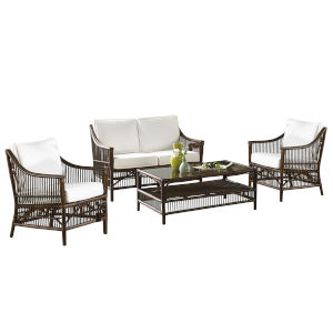 Bora Bora Patriot Cherry Four-Piece Living Set with Cushion