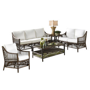 Bora Bora Patriot Cherry Five-Piece Living Set with Cushion