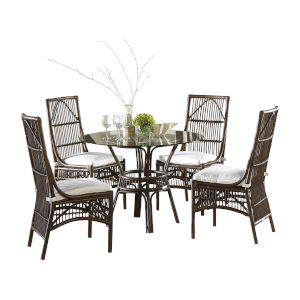 Bora Bora York Peacock Dining Set with Cushion