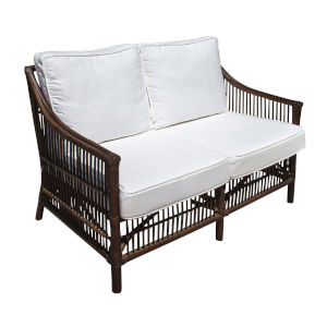 Bora Bora York Dove Loveseat with Cushion
