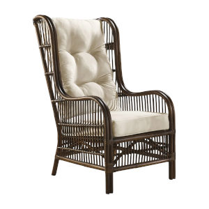 Bora Bora Canvas Taupe Occasional Chair with Cushion
